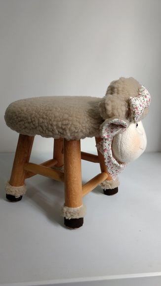 Banquinho Ovelha Ovelha Banquinho De Croche Artesanato De Ovelhas