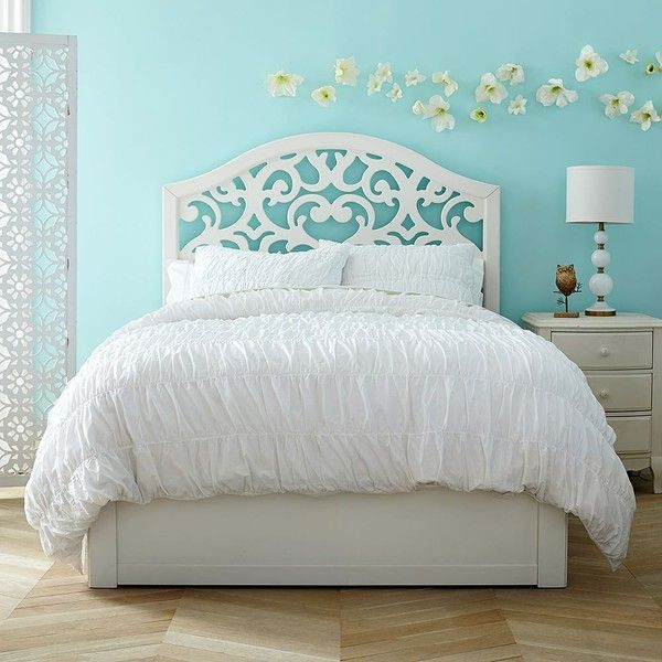 PB Teen Floral Cut-Out Storage Bed, Twin, Simply White ($1,349 ...