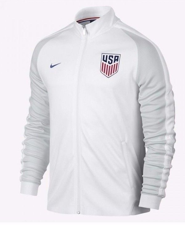 7de94d926 Nike US Soccer Authentic N98 Track Jacket Mens White 727913 100 USA #Nike # Jacket
