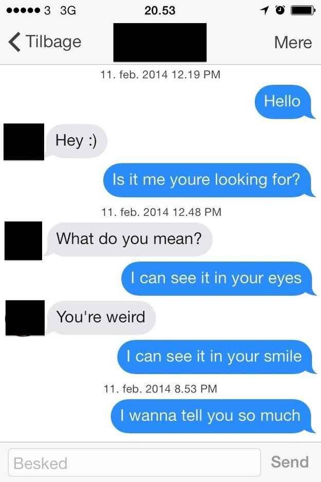 Online dating frste besked