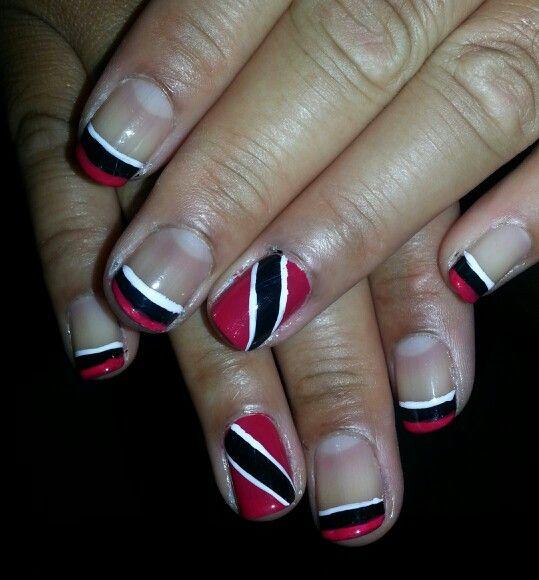 Trinidad Flag Nail Art Lovely Nail Designs Pinterest Flag