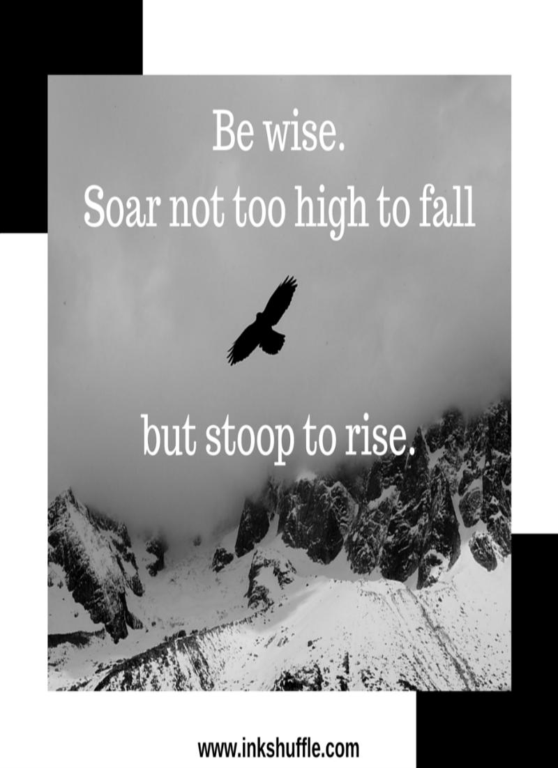 Be wise. Soar like an eagle.
