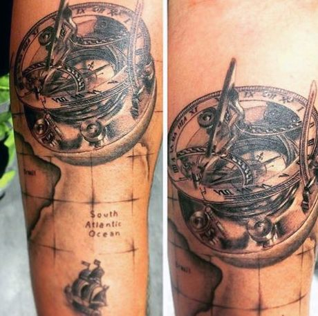Vintage world map tattoo google search piercings tattoos vintage world map tattoo google search gumiabroncs
