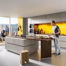 elba K023 Beton quarzgrau Nachbildung | Küchenausstellung | Pinterest