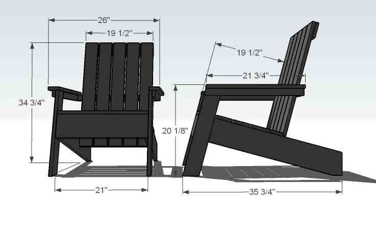 Modern Adirondack Chair Plans With Images Chair Woodworking