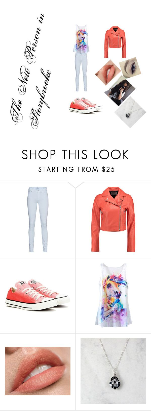 """""""#NewGirl"""" by ethan-s-queen on Polyvore featuring 7 For All Mankind, T By Alexander Wang and Converse"""