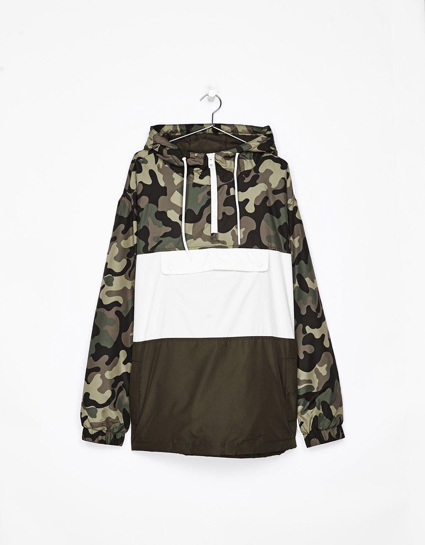 compre los más vendidos sobornar auténtico tienda oficial Cazadora canguro camuflaje | chaqueta | Cazadora bershka ...