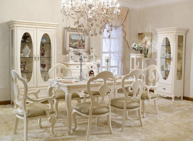 French Provincial Dining Room Furniture Painted With White | Decolover.net