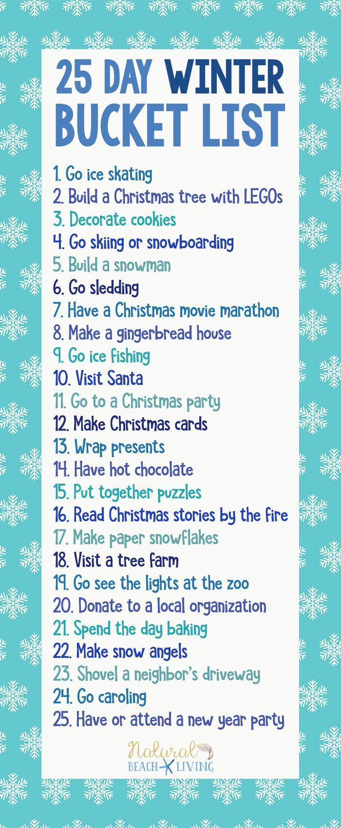 25 Winter Bucket List Ideas for Family Fun Winter