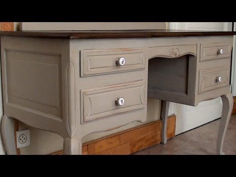 patine sur meuble ancien tutoriel youtube patine pinterest meubles anciens patine et. Black Bedroom Furniture Sets. Home Design Ideas