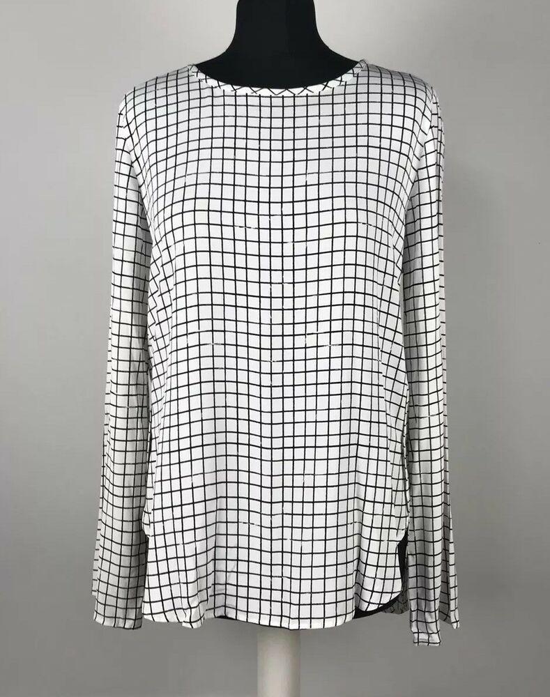 d8cfbd3c ZARA Woman Size Small UK 8-10 Black & White Long Sleeved Blouse Work ...
