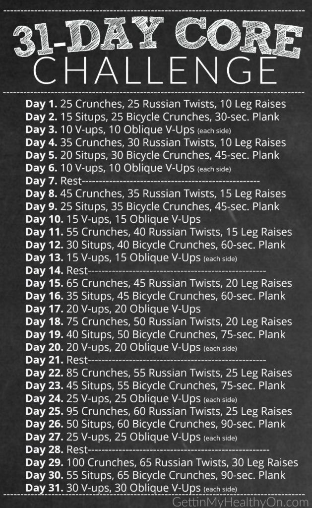 31-Tage-Kernherausforderung - Sport und Frauen #coreworkouts