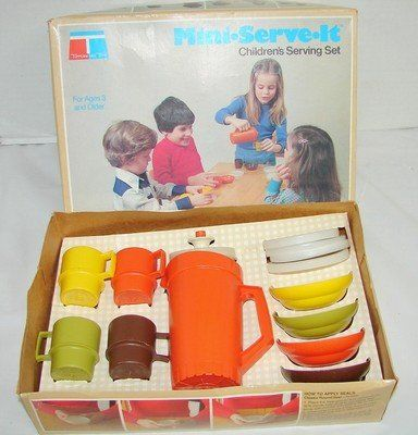 Vintage Tupperware Toys Childrens Serving Set. My kids played with this.  Now my sister's grandchildren play with it.