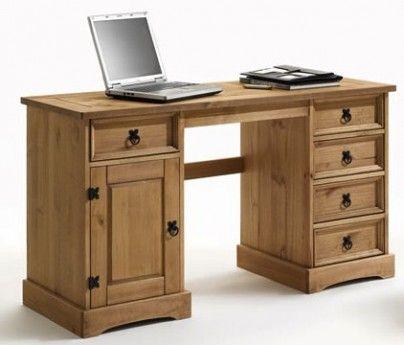 Schreibtisch merida massivholz pinie landhausstil for Schreibtisch landhausstil
