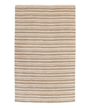 Take a look at this Feather Gray & Khaki Indus Valley Rug by Surya on #zulily today!