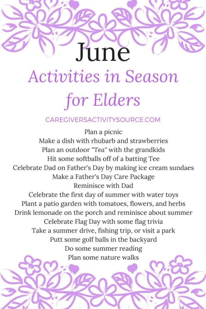 June Activities in Season for Elders is part of June Activities In Season For Elders Ideas For Work - Celebrate June with a few family activities! June offers many activity opportunities! Here are a few that include an older family member! June is National Zoo and Aquarium Month! Invite an older fa…