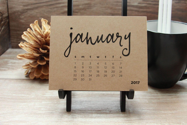 New, Desktop Calendars, Jan 2017 Jan 2018, For office, dorm room