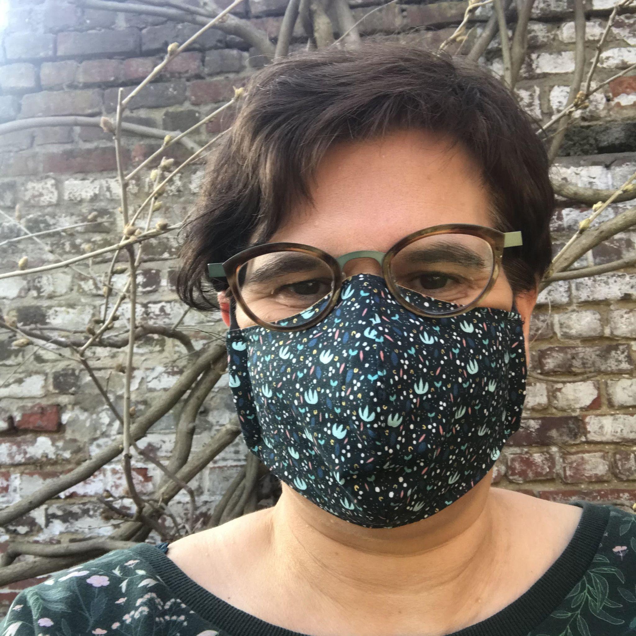 Hoe maak je zelf een mondmasker |Gratis patroon + werkbeschrijving |LanaLotta