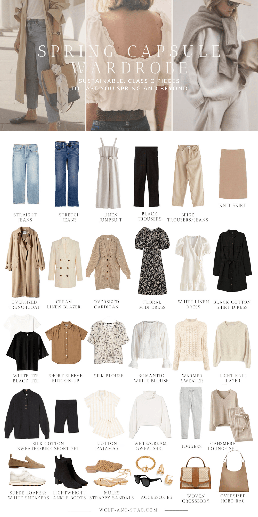 Photo of The (Mostly) Sustainable Spring Capsule Wardrobe » Wolf  Stag