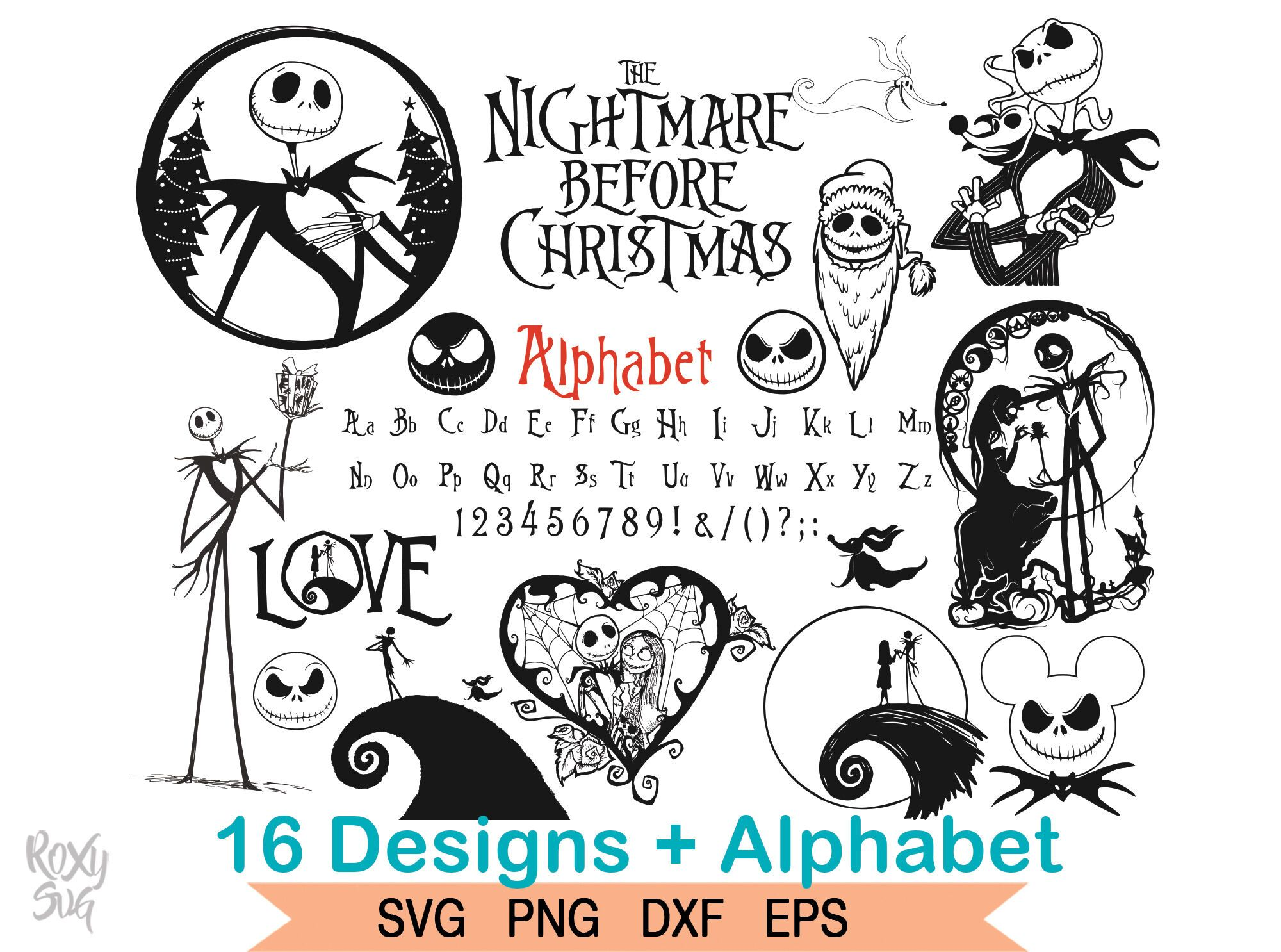 A Nightmare Before Christmas SVG By Lovely Graphics