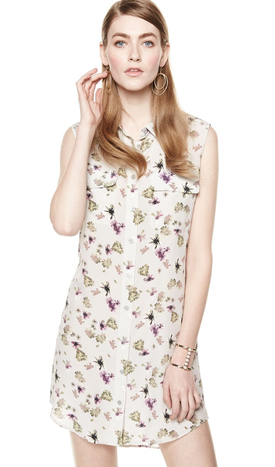 How about a lovely equipment signature slim sleeveless silk