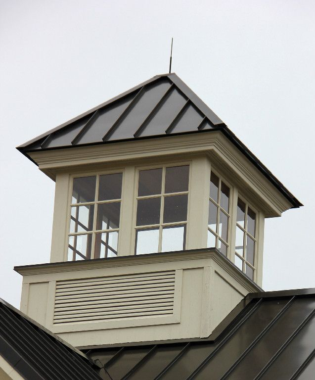 Cupolas Square Venting Cupola With Windows And Standing