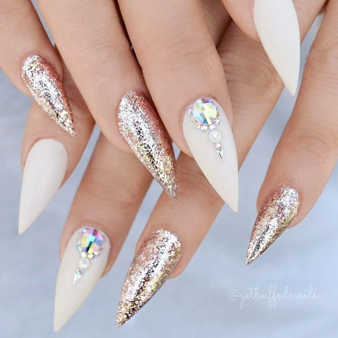 Trendy Acrylic Nail Designs Youll Love ☆ See more:  https://naildesignsjournal. - 21 Trendy Acrylic Nail Designs You'll Love Glitter Nails