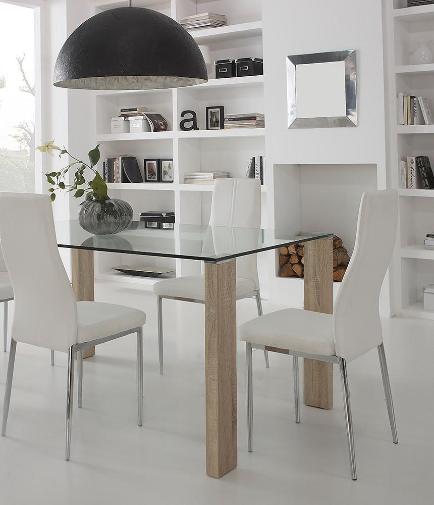 Soggiorno minimal: bianco, legno chiaro e trasparenze. Top Ambientes ...
