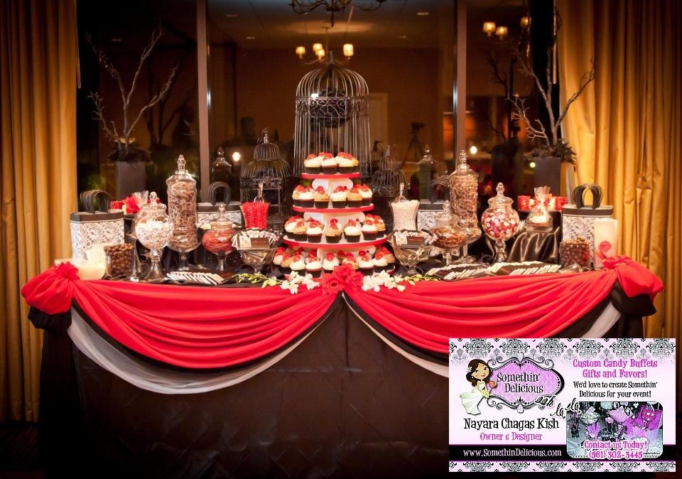Red White Black Candy Buffet White Candy Buffet Red Candy Buffet Graduation Candy Buffet