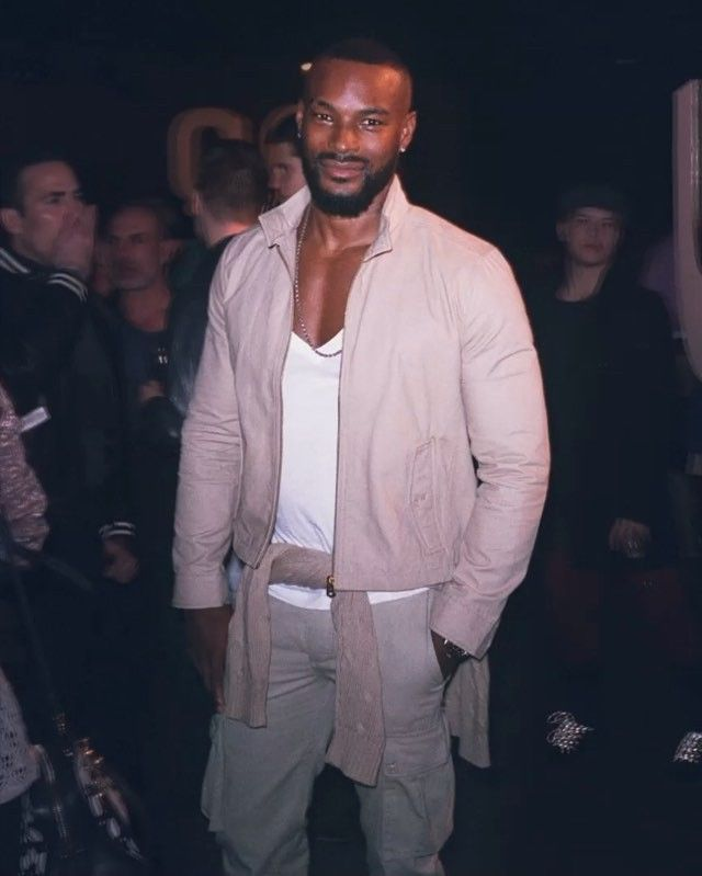Supermodel @tysoncbeckford at #NYFWM @dockerskhakis opening party  #3DNY @cfda @tumblr #tysonbeckford