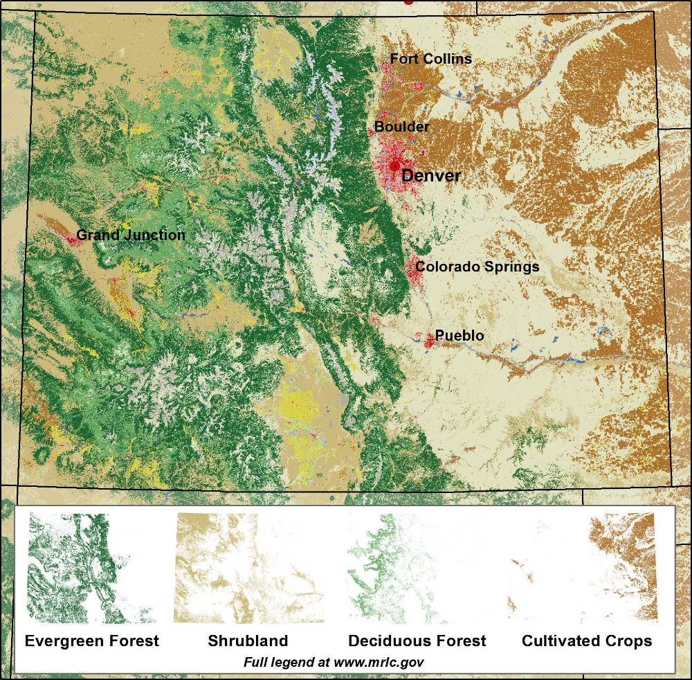 USGS Land Cover on Twitter Grand junction colorado
