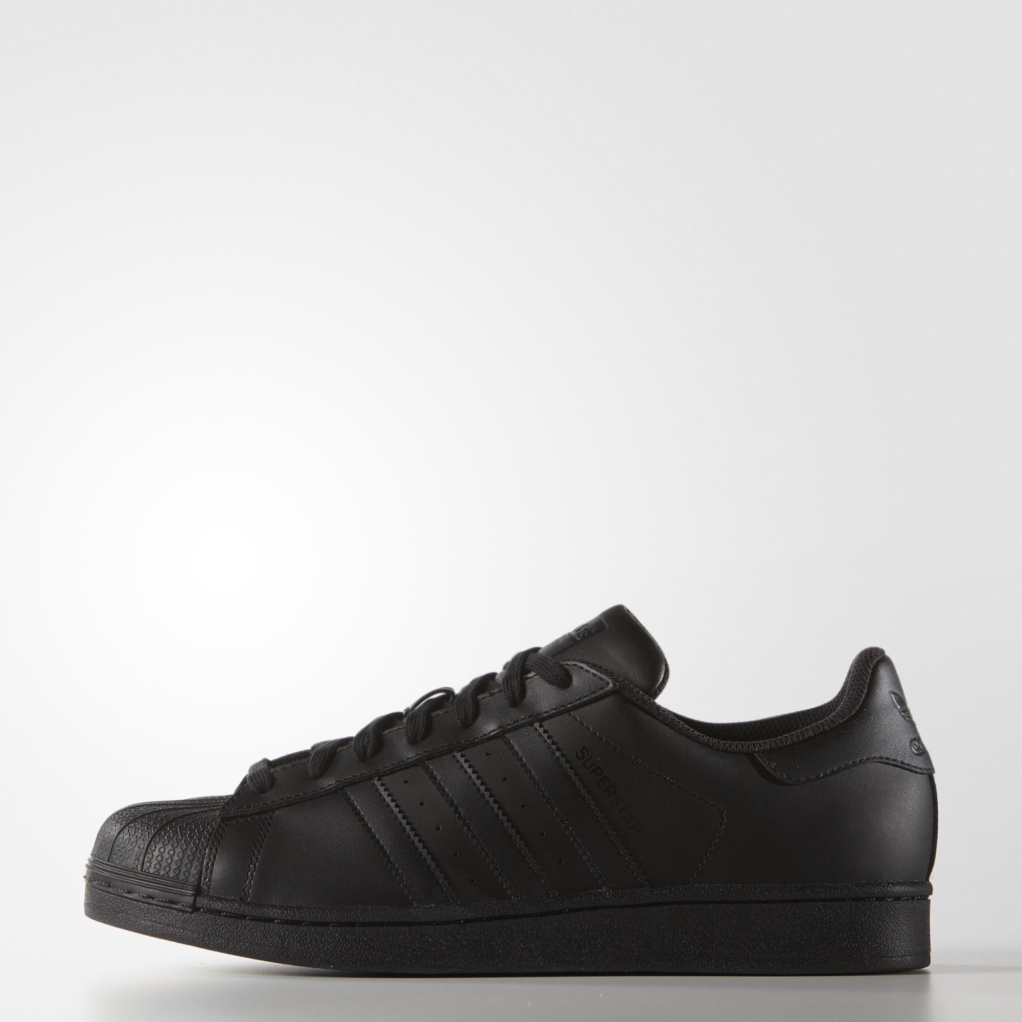 5a3aab147ef15 adidas Superstar Foundation Shoes - Black