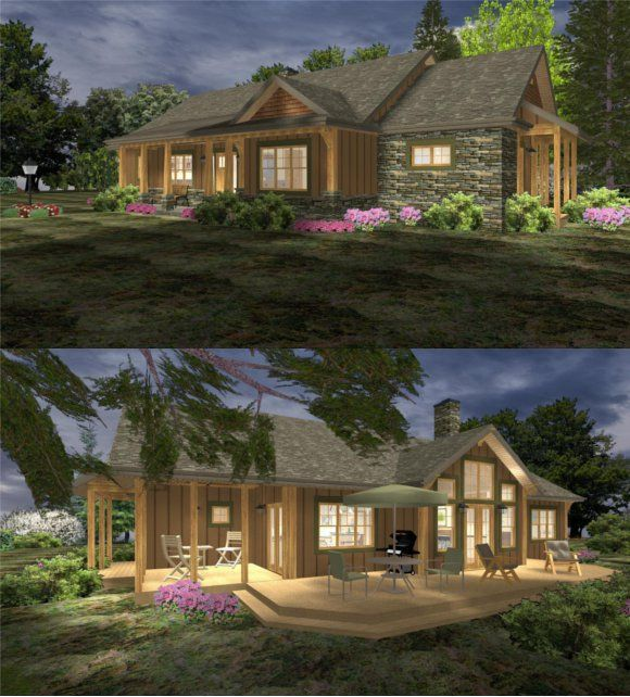 Sophisticated Rustic Contemporary Cabin House Plan Rustic House Plans House Plans Small House Floor Plans