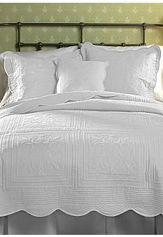 American Traditions French Tiles Quilt Collection Belk White Scalloped