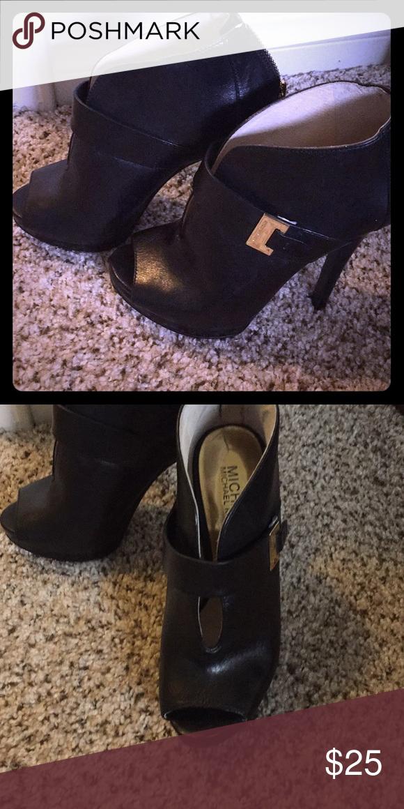 ea8840bbf1e Michael Kors high heel Black heel MICHAEL Michael Kors Shoes Heels