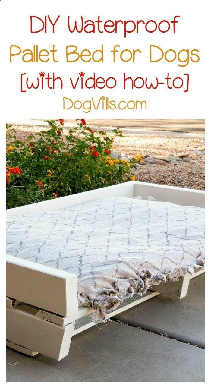 DIY Waterproof Pallet Dog Bed Project Pallet dog beds