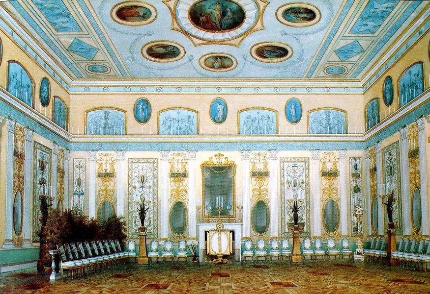 комнаты в екатерининском дворце картинки гирлянды