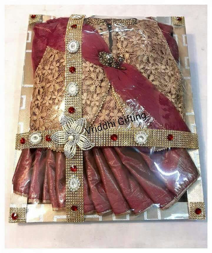 Gift Wrapping Saree Ideas Part - 49: Indian Wedding Trousseau Gift Packing.