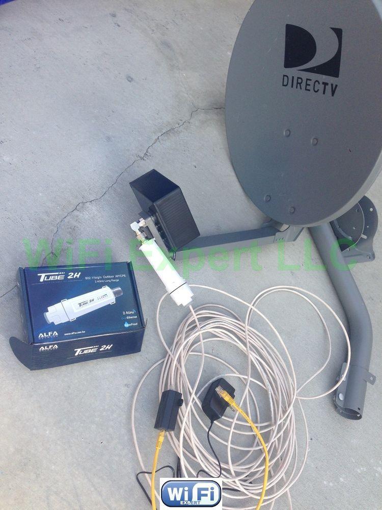 No Dish Biquad Wifi Antenna Alfa Poe Tube 2h Outdoor Booster Get Free Internet Wifi Antenna Diy Tv Antenna Wifi