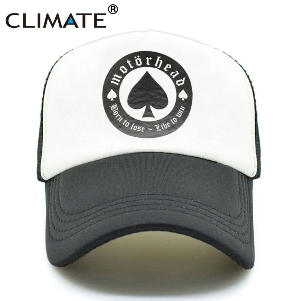 c658076a517 CLIMATE Rock Trucker Caps Motorhead Fans Black Cap Hard Metal Rock Music