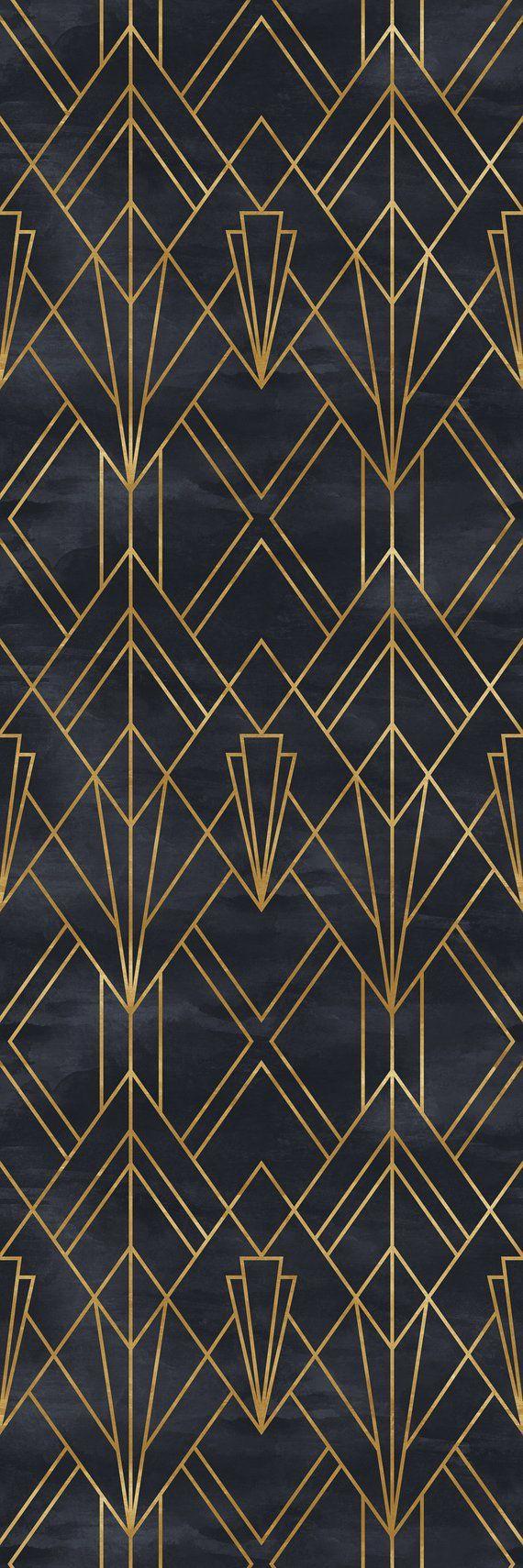 Removable Wallpaper Self Adhesive Wallpaper Gold And Black Geometric Peel Stick Wallpaper Self Adhesive Wallpaper Removable Wallpaper Peel And Stick Wallpaper