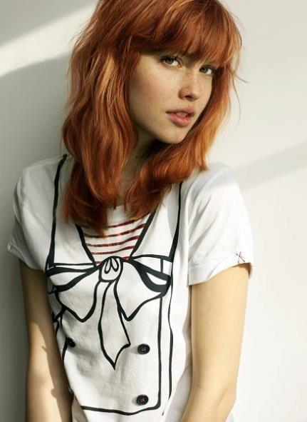 Flat Chest Redhead
