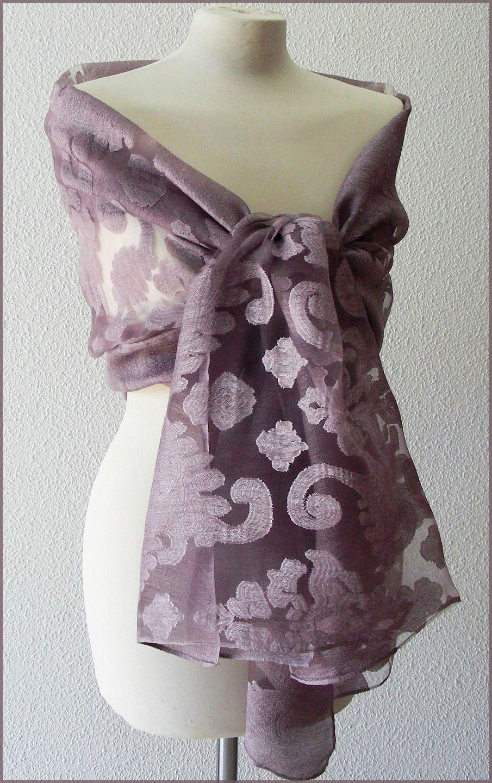 Etole Mauve Parme Vieux Rose - etole de mariage- écharpe-foulard ... 86e1e4c4f5d