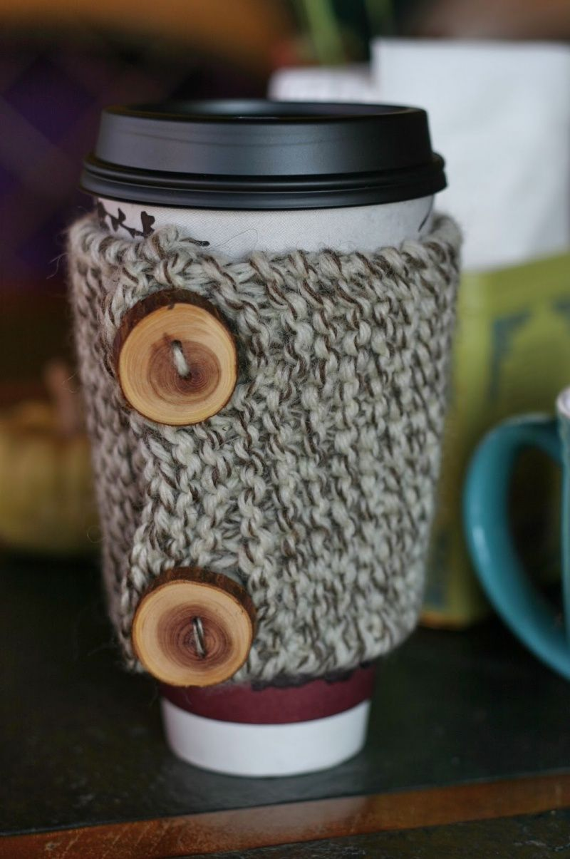 Free Coffee Cozy Knitting or Crochet Pattern Tutorial | Yarn work ...