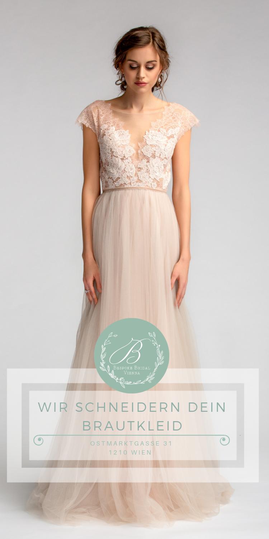 Maßgeschneidertes Brautkleid in Wien. Brautmode nach Maß