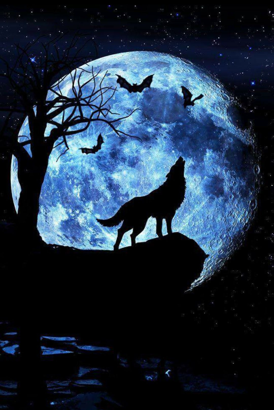 Pin By Andreja On Fantasy Art Wolf Howling Howling At The Moon New Moon Rituals