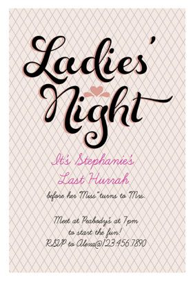 Las Night Printable Invitation Customize Add Text And Photos Print For Free So Easy To Edit Love This Site