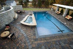 Custom Backyards With Lap Pool Entrancing Large Lap Pool Mid Atlantic Enterprise Inc Williamsburg Va