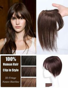 Details about 100% Remy Human Hair Clip in Topper