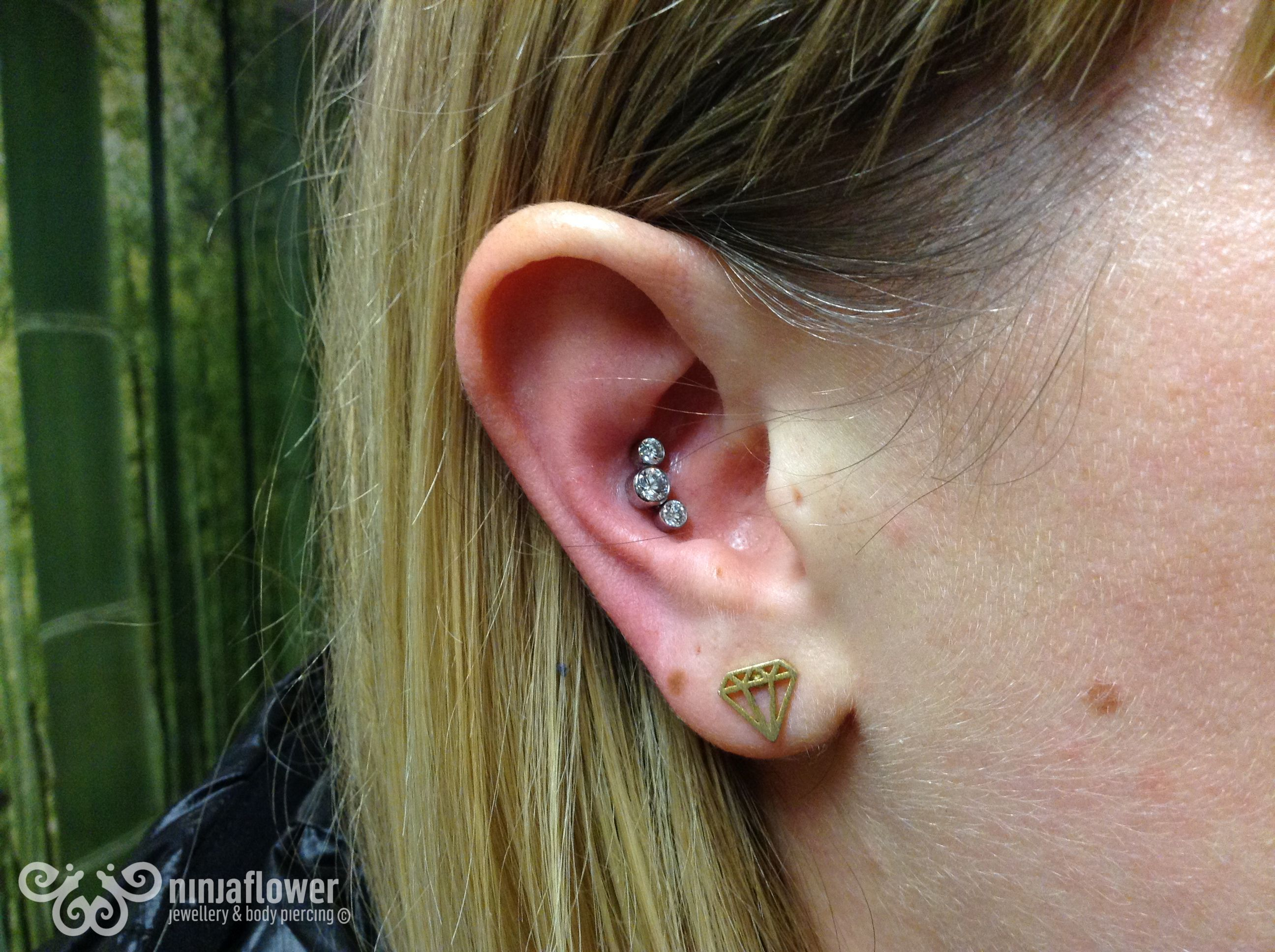 Nose piercing hole closed up  Forward helix and conch conch earpiercing piercing bodypiercing